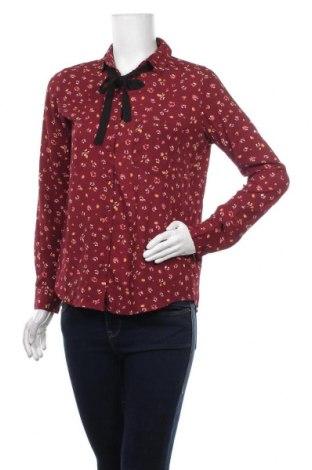 Дамска риза Amisu, Размер S, Цвят Червен, 96% полиестер, 4% еластан, Цена 18,90лв.