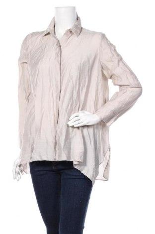 Дамска риза COS, Размер M, Цвят Бежов, 84% лиосел, 16% полиамид, Цена 29,40лв.