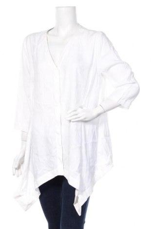 Дамска риза COS, Размер L, Цвят Бял, 81% модал, 19% полиестер, Цена 28,80лв.