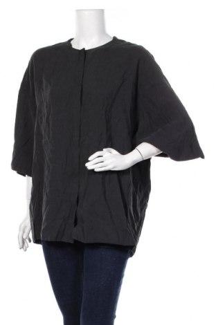 Дамска риза COS, Размер M, Цвят Сив, 87% модал, 13% полиестер, Цена 30,80лв.