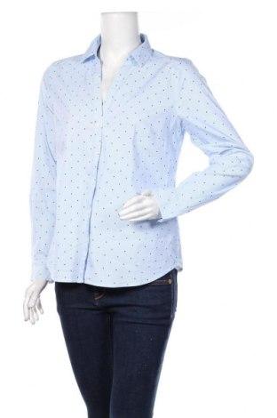 Damska koszula H&M, Rozmiar XL, Kolor Niebieski, 73% bawełna, 23% poliester, 4% elastyna, Cena 43,20zł