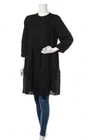 Дамска риза Pieces, Размер L, Цвят Черен, Цена 28,35лв.