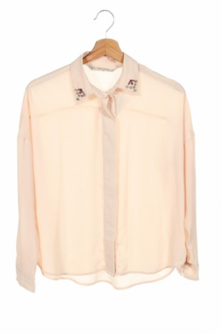 Damska koszula Zara, Rozmiar XS, Kolor Beżowy, Cena 81,60zł