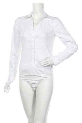 Damska koszula-body S.Oliver, Rozmiar S, Kolor Biały, 65% bawełna, 32% poliamid, 3% elastyna, Cena 138,00zł