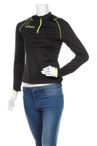 Дамска спортна блуза ASICS, Размер M, Цвят Черен, 98% полиестер, 8% еластан, Цена 37,80лв.