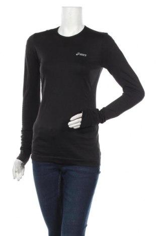 Дамска спортна блуза ASICS, Размер M, Цвят Черен, 95% полиамид, 5% еластан, Цена 29,40лв.