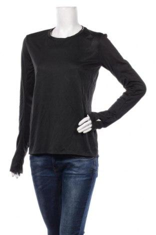Bluză trening de femei Adidas, Mărime M, Culoare Negru, Poliester, Preț 161,02 Lei