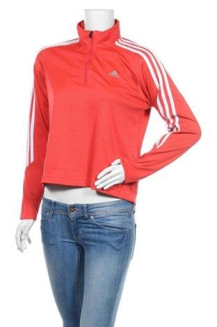 Дамска спортна блуза Adidas, Размер M, Цвят Червен, Полиестер, Цена 37,80лв.