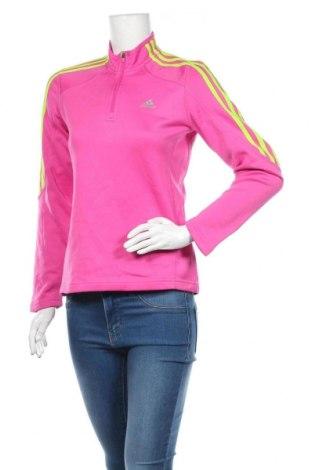 Дамска спортна блуза Adidas, Размер S, Цвят Розов, Цена 29,40лв.