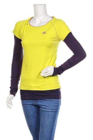 Дамска спортна блуза Adidas, Размер XS, Цвят Зелен, Полиестер, еластан, Цена 23,10лв.
