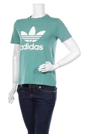 Damski T-shirt Adidas, Rozmiar M, Kolor Zielony, 95% bawełna, 5% elastyna, Cena 62,40zł