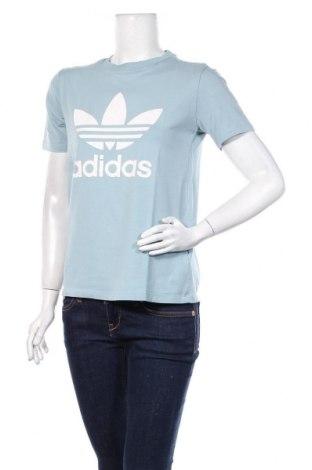 Damski T-shirt Adidas, Rozmiar M, Kolor Niebieski, 95% bawełna, 5% elastyna, Cena 62,40zł