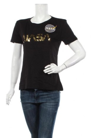 Tricou de femei Alpha Industries, Mărime M, Culoare Negru, Bumbac, Preț 236,84 Lei