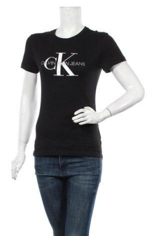 Tricou de femei Calvin Klein Jeans, Mărime XS, Culoare Negru, Bumbac, Preț 170,23 Lei