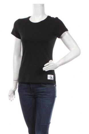 Tricou de femei Calvin Klein Jeans, Mărime S, Culoare Negru, Bumbac, Preț 177,63 Lei