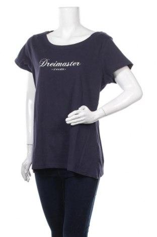 Tricou de femei Dreimaster, Mărime XXL, Culoare Albastru, Bumbac, Preț 138,16 Lei