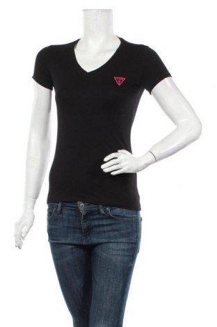 Дамска тениска Guess, Размер XS, Цвят Черен, 95% памук, 5% еластан, Цена 51,75лв.