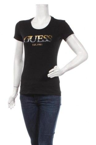 Tricou de femei Guess, Mărime M, Culoare Negru, 95% bumbac, 5% elastan, Preț 259,87 Lei