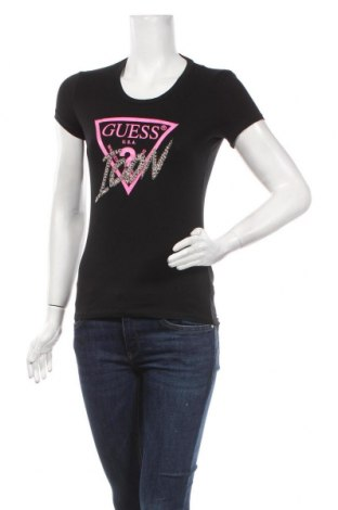 Tricou de femei Guess, Mărime XS, Culoare Negru, 95% bumbac, 5% elastan, Preț 170,23 Lei
