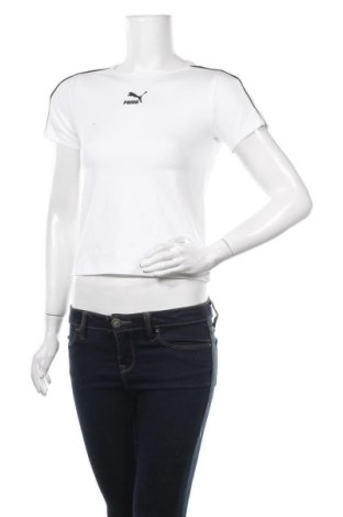 Tricou de femei PUMA, Mărime S, Culoare Alb, 95% bumbac, 5% elastan, Preț 161,18 Lei