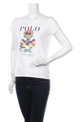 Tricou de femei Polo By Ralph Lauren, Mărime M, Culoare Alb, Bumbac, Preț 289,47 Lei
