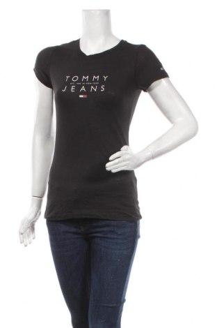 Tricou de femei Tommy Hilfiger, Mărime S, Culoare Negru, 60% bumbac, 40% poliester, Preț 177,63 Lei