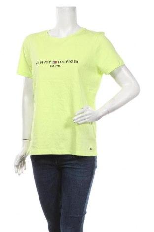 Tricou de femei Tommy Hilfiger, Mărime L, Culoare Verde, Bumbac, Preț 236,84 Lei