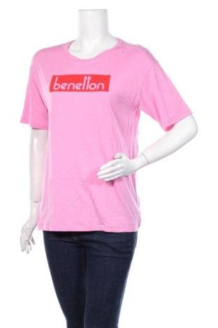 Дамска тениска United Colors Of Benetton, Размер L, Цвят Розов, Цена 16,50лв.