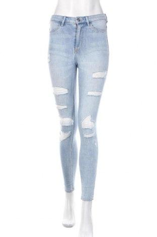 Damskie jeansy H&M Divided, Rozmiar S, Kolor Niebieski, 79% bawełna, 20% poliester, 1% elastyna, Cena 79,20zł