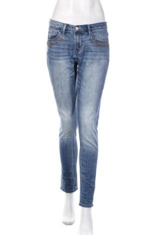 Damskie jeansy H&M L.O.G.G., Rozmiar M, Kolor Niebieski, 99% bawełna, 1% elastyna, Cena 86,40zł