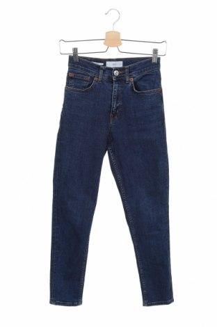 Damskie jeansy Mango, Rozmiar XXS, Kolor Niebieski, 99% bawełna, 1% elastyna, Cena 76,80zł