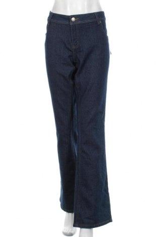 Dámské džíny  Okay, Velikost XXL, Barva Modrá, 47% bavlna, 18% viskóza, 34% polyester, 1% elastan, Cena  670,00Kč