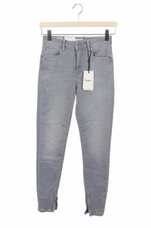 Blugi de femei Pepe Jeans, Mărime XS, Culoare Gri, 82% bumbac, 16% poliester, 2% elastan, Preț 416,94 Lei