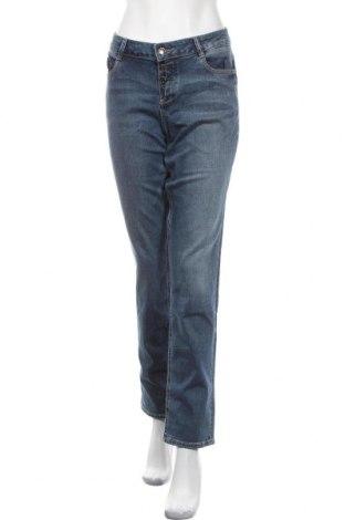 Blugi de femei S.Oliver, Mărime L, Culoare Albastru, 98% bumbac, 2% elastan, Preț 182,57 Lei