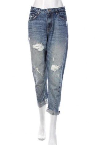Damskie jeansy Zara, Rozmiar S, Kolor Niebieski, Bawełna, Cena 88,80zł