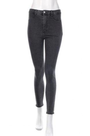 Damskie jeansy Zara, Rozmiar M, Kolor Szary, 77% bawełna, 19% poliester, 4% elastyna, Cena 91,20zł