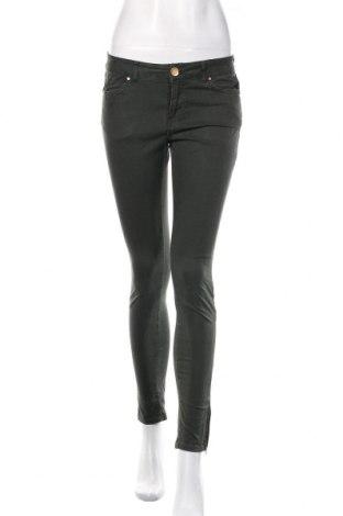Damskie jeansy Zara, Rozmiar S, Kolor Zielony, 97% bawełna, 3% elastyna, Cena 91,20zł