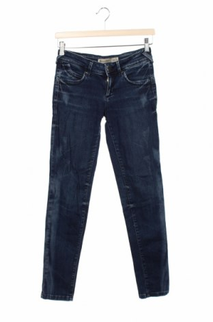 Blugi de femei Zara Trafaluc, Mărime S, Culoare Albastru, 98% bumbac, 2% elastan, Preț 88,82 Lei