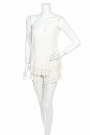Salopetă de femei H&M, Mărime XS, Culoare Ecru, Viscoză, bumbac, Preț 76,48 Lei