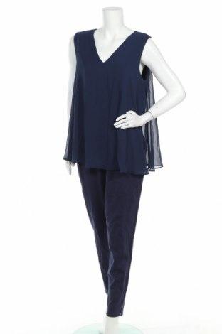Salopetă de femei Sheego, Mărime XL, Culoare Albastru, 68% viscoză, 27% poliamidă, 5% elastan, Preț 170,23 Lei