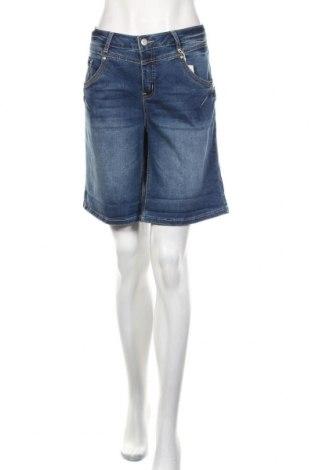Pantaloni scurți de femei Cream, Mărime XL, Culoare Albastru, 83% bumbac, 15% poliester, 2% elastan, Preț 207,24 Lei