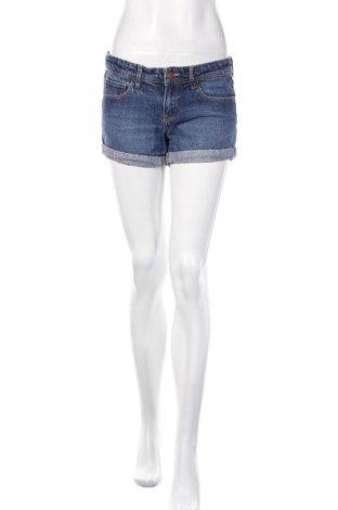 Дамски къс панталон H&M, Размер M, Цвят Син, 90% памук, 8% вискоза, 2% други тъкани, Цена 18,75лв.