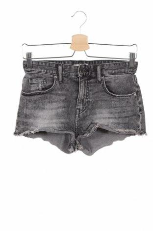 Дамски къс панталон H&M, Размер XS, Цвят Сив, 98% памук, 2% еластан, Цена 21,00лв.