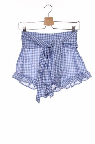 Γυναικείο κοντό παντελόνι H&M, Μέγεθος XS, Χρώμα Μπλέ, 99% βαμβάκι, 1% ελαστάνη, Τιμή 11,14€