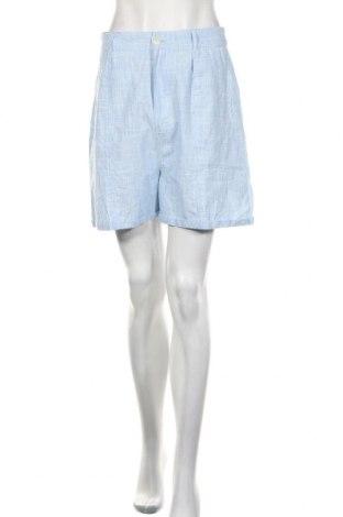 Дамски къс панталон Missguided, Размер M, Цвят Син, Памук, Цена 28,50лв.