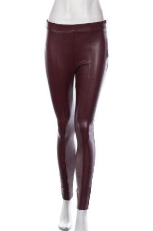 Дамски кожен панталон Amisu, Размер S, Цвят Червен, Еко кожа, Цена 32,55лв.