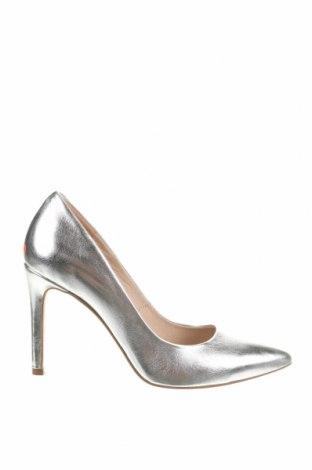 Încălțăminte de damă Faina, Mărime 38, Culoare Argintiu, Piele naturală, Preț 293,59 Lei