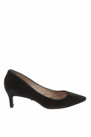 Γυναικεία παπούτσια Hallhuber, Μέγεθος 37, Χρώμα Μαύρο, Φυσικό σουέτ, Τιμή 28,76€