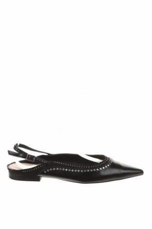 Încălțăminte de damă Zara, Mărime 38, Culoare Negru, Piele ecologică, textil, Preț 128,29 Lei
