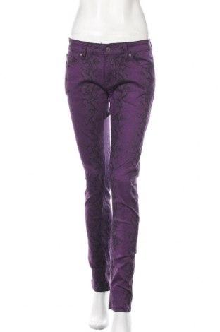 Dámské kalhoty  Emp, Velikost M, Barva Fialová, 98% bavlna, 2% elastan, Cena  414,00Kč